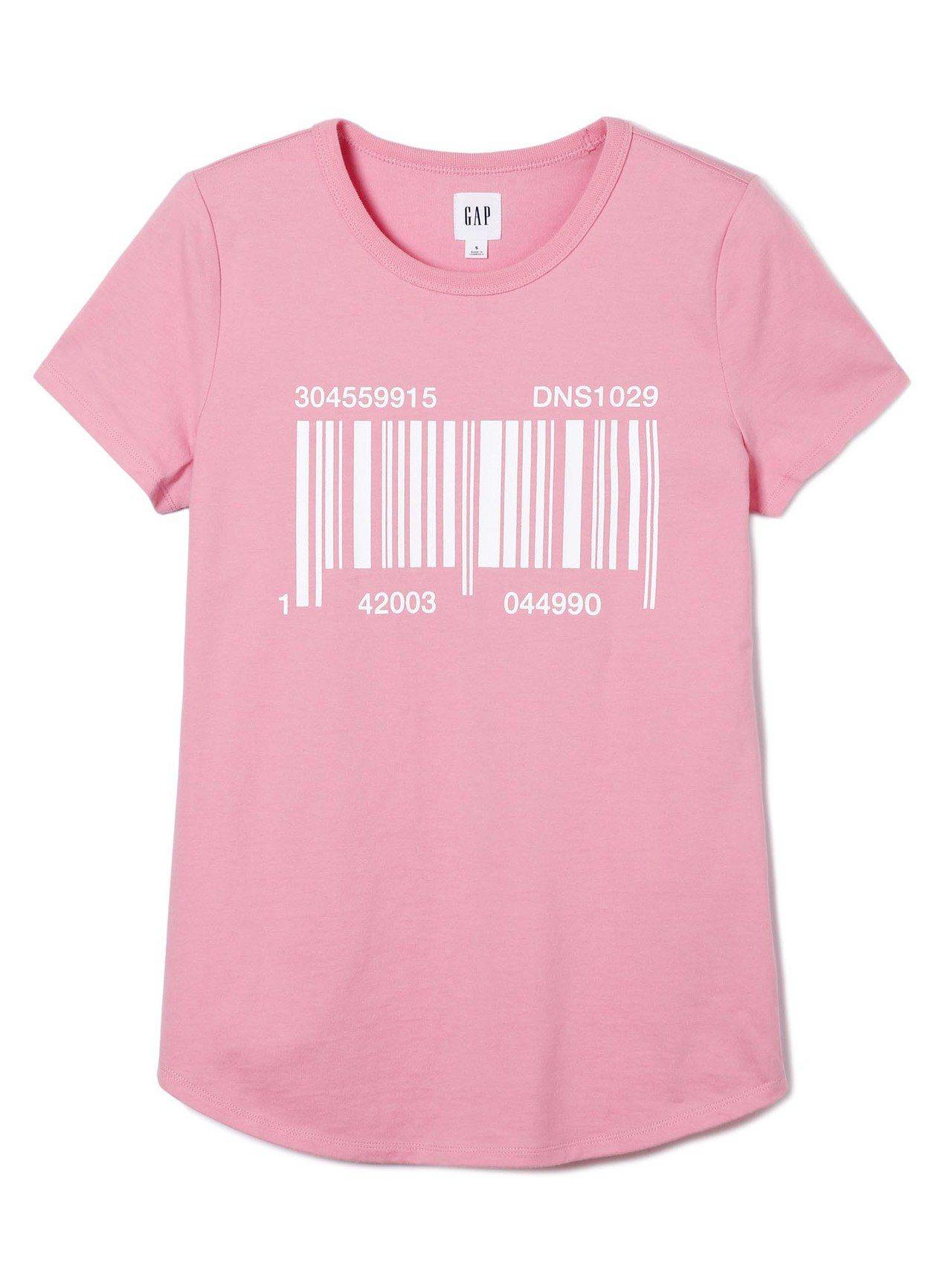 GAP與Constance Tsui聯名系列創意印花圓領短袖T恤,約999元。
