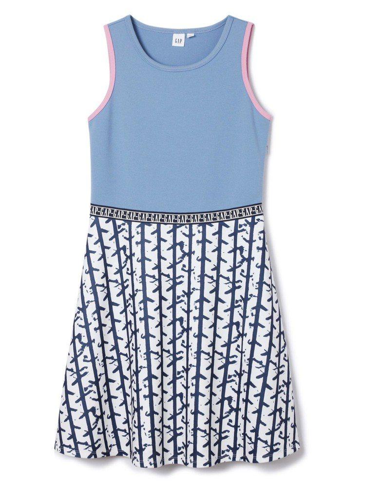 GAP與Constance Tsui聯名系列拼接印花無袖連衣裙,約1,999元。...