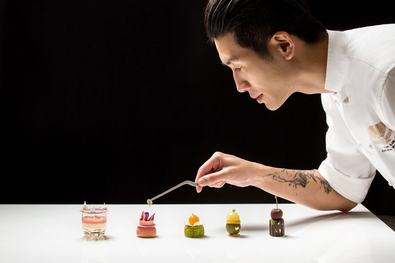 主廚任樂軒原主修時尚設計,轉身投入甜點界。圖/文華東方酒店提供