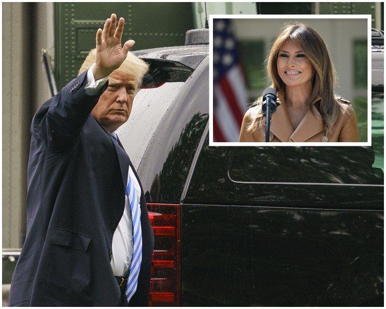 梅蘭妮亞動手術住院期間,美國總統川普接連3天探視第一夫人。(翻攝自網路)