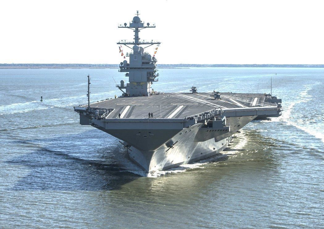 福特號航空母艦2017年4月展開試航。美聯社