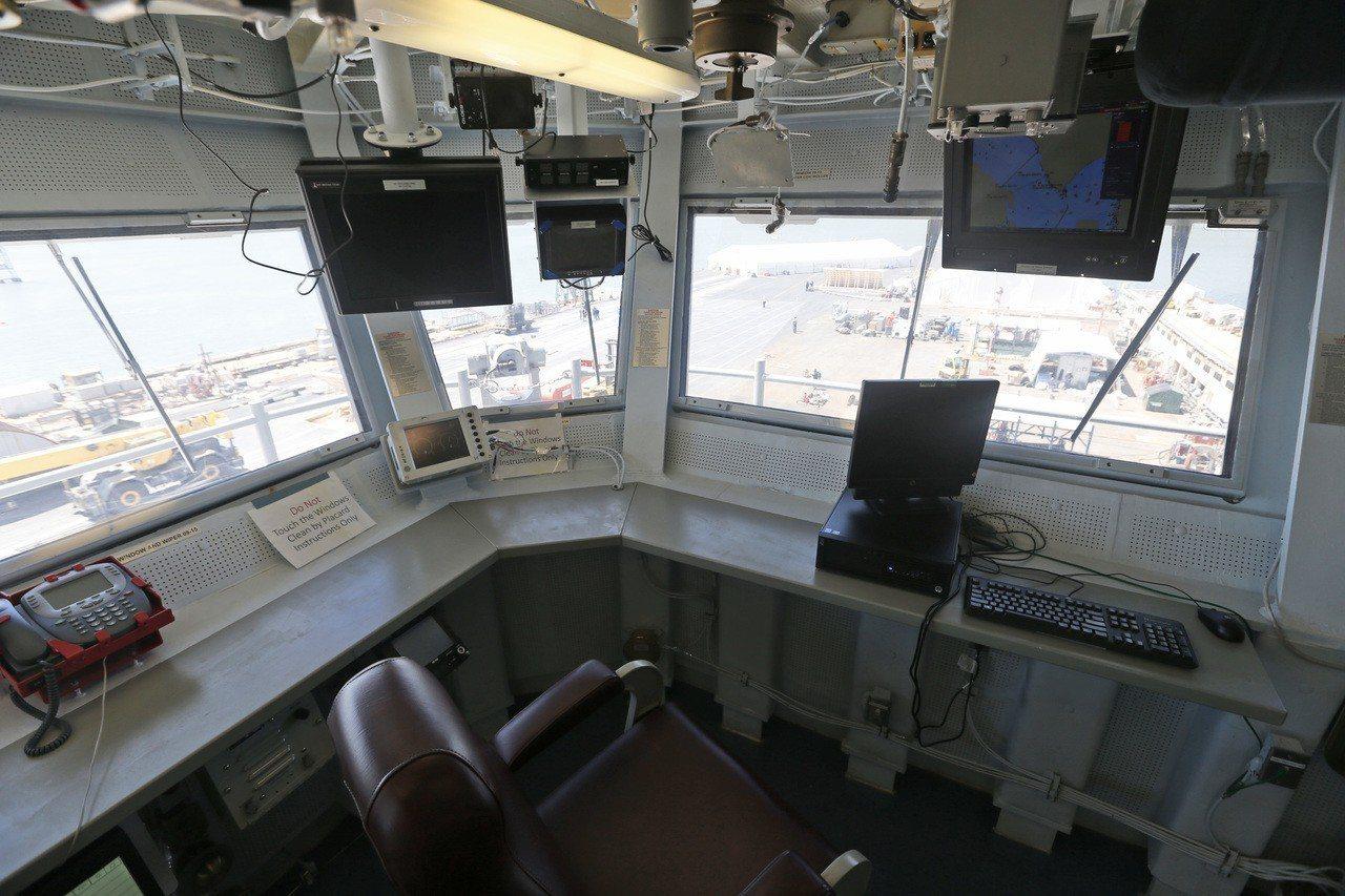 從福特號艦橋鳥瞰飛行甲板。美聯社