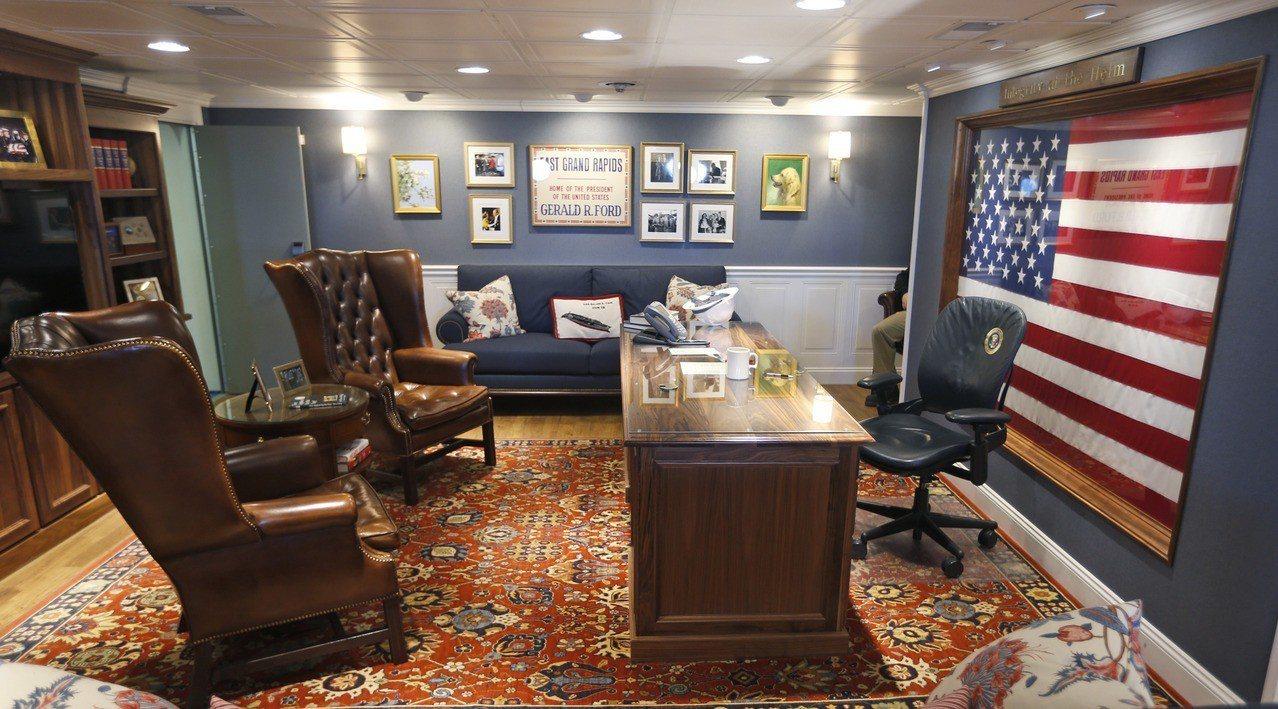 福特號艦長辦公室。美聯社