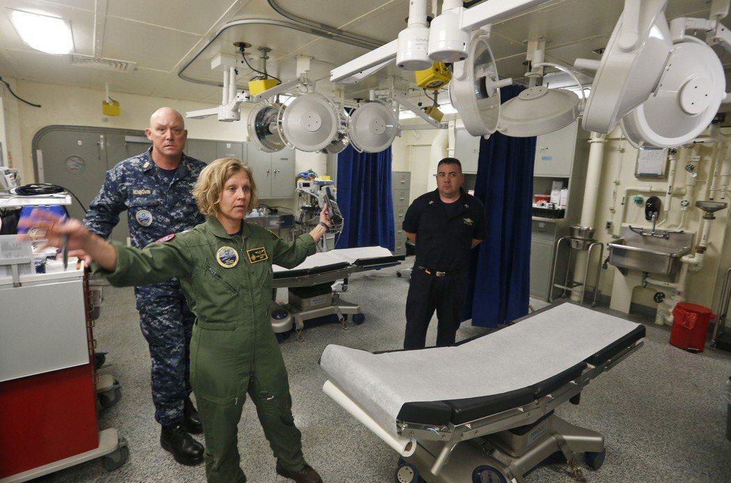 福特號的手術室。美聯社