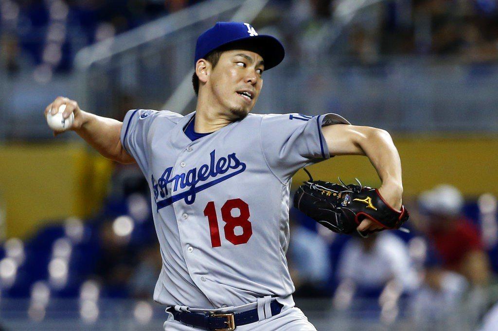 日籍投手前田健太繳出8局無失分的本季代表作。 美聯社