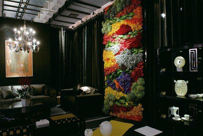 克莉絲汀花卉於北京文博會的花藝空間設計。 圖/滿峯園、CNFlower西恩、克莉...