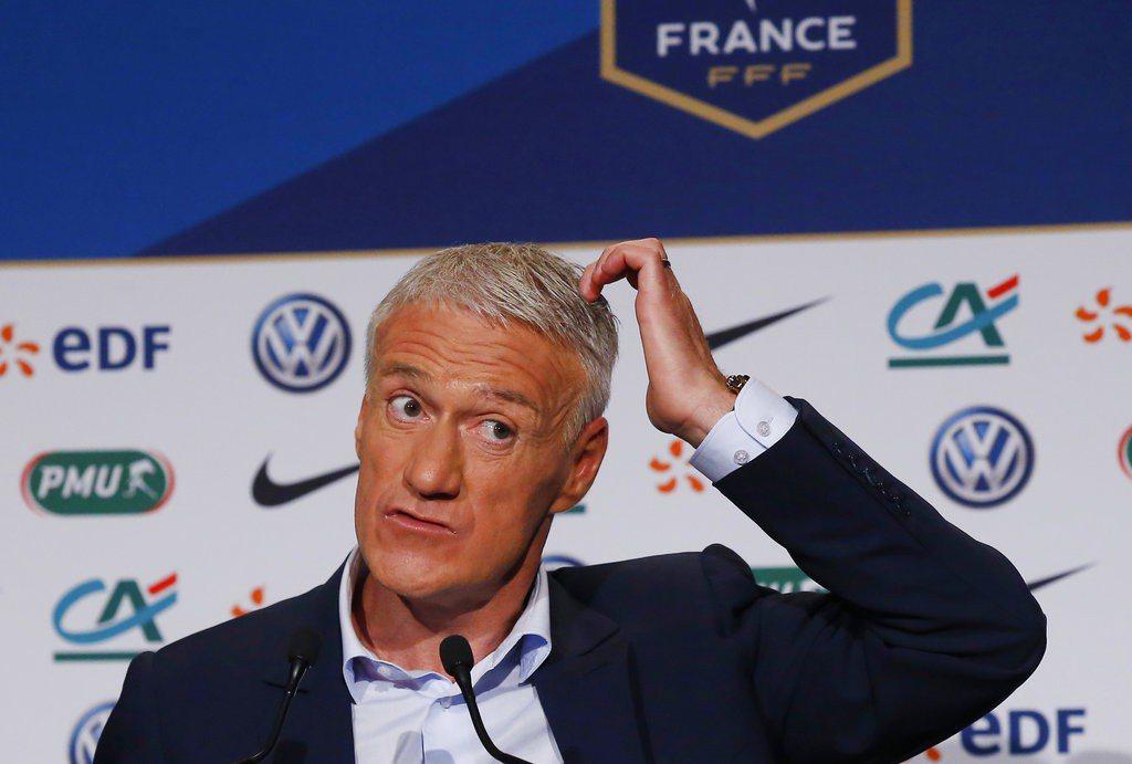 法國國家隊總教練德尚公布世足賽23人名單。 美聯社