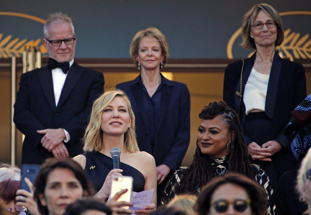 82名女影人共同發表聲明,為電影產業的女性同胞爭取同工同酬,並終止性騷擾。 圖/路透社