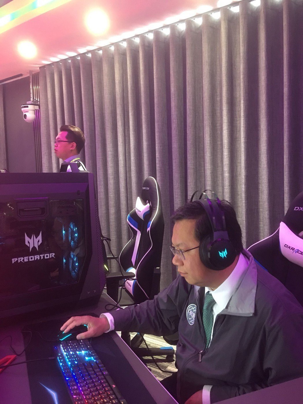 桃園市大家長鄭文燦對Acer Predator的專業度給予肯定。  宏碁/提供