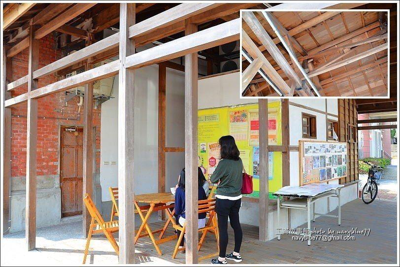 ↑右側木構建築原本是備勤室,現改為半室外的休息空間。