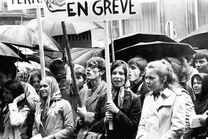已邁入50周年的六八學運,當年的女性是以什麼樣的姿態參與現場? 圖/Théo Mey, Photothèque de la Ville de Luxembourg