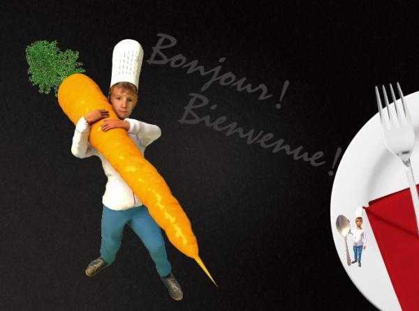 世界最小廚師做菜過程充滿趣味。圖/翻攝自台南晶英酒店官網
