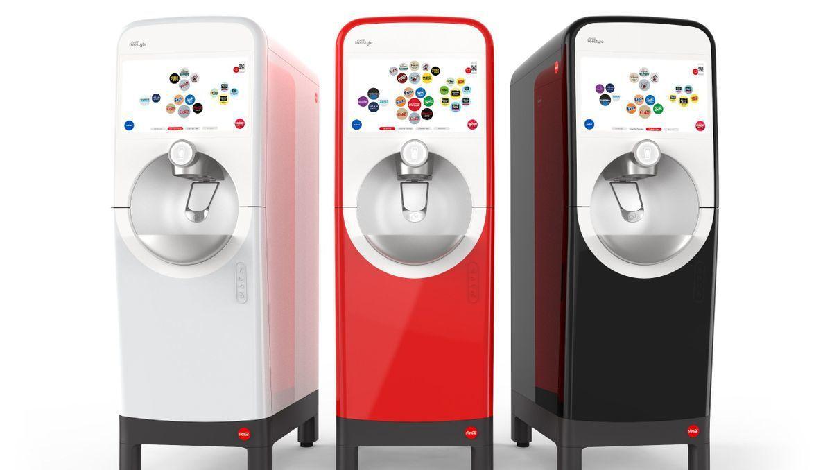 可口可樂升版Freestyle飲料機採用藍牙技術。(圖片來源:可口可樂公司 )