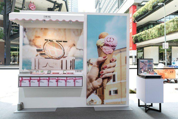 迪奧「DOLCE VITA我的羅馬假期」美妝展示區。圖/迪奧提供