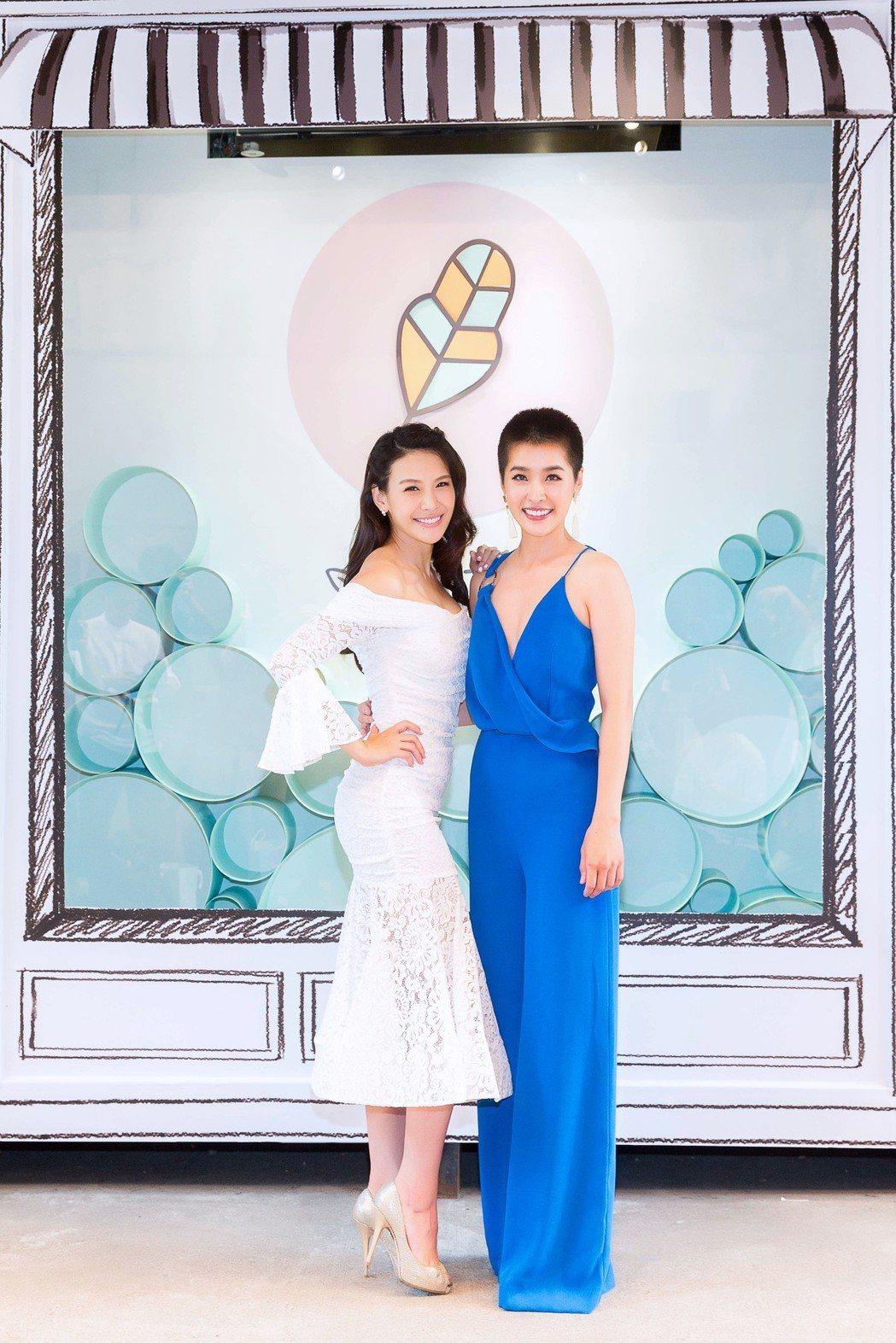 Oui Organic唯有機創辦人艾莉絲與好姊妹小嫻10年來首度公開合體亮相。圖...