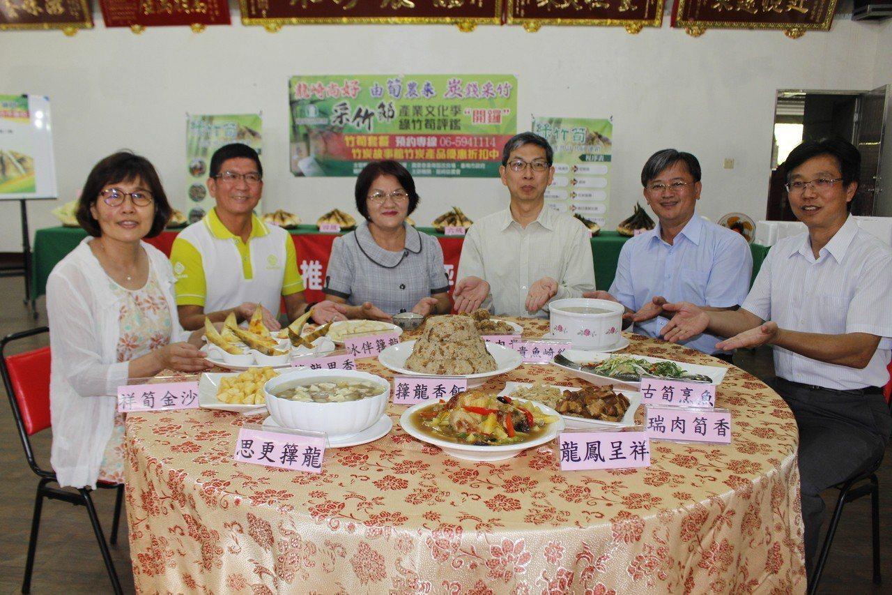台南龍崎區農會配合竹筍產季,推出竹筍大餐。記者吳淑玲/攝影