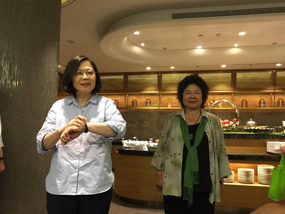 蔡英文總統與總統府秘書長陳菊。記者周佑政/攝影