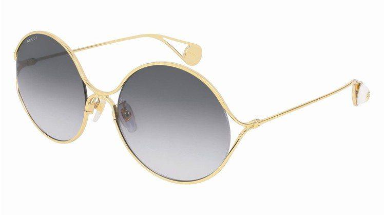 漸層色鏡片圓框太陽眼鏡,15,900元。 圖/Gucci提供