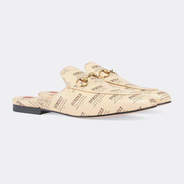 Princetown印花馬銜鍊鞋,30,900元。 圖/Gucci提供