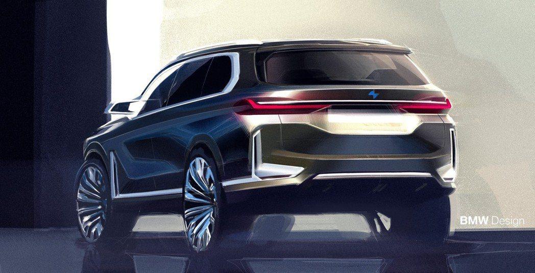 BMW X8很有可能要成真了!圖為BMW Concept X7 iPerformance設計草圖。 摘自BMW