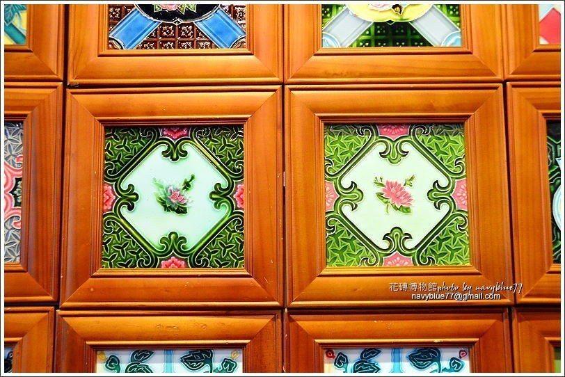 ↑同樣是花磚,製作技術有差,右側的這塊蓮花花磚技藝較精湛。