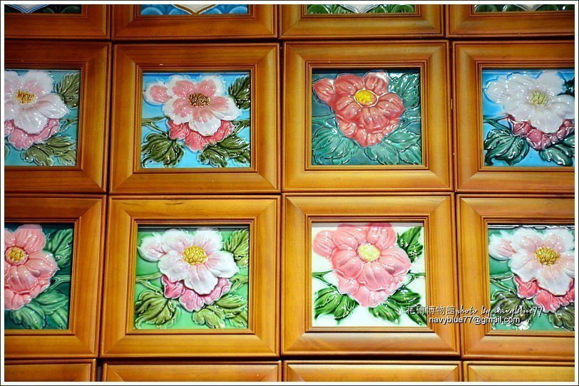 ↑同樣的花磚模子,上色不同就產生不同的美感。
