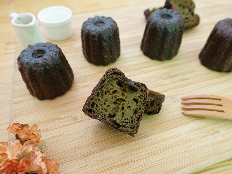 散發茶香的「茶可麗露」。圖/記者張芳瑜攝影