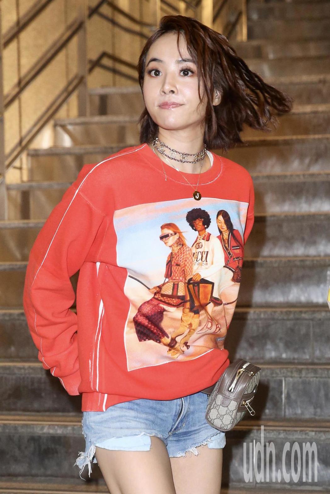 蔡依林晚上到台北小巨蛋觀看安室奈美惠演唱會。記者林伯東/攝影