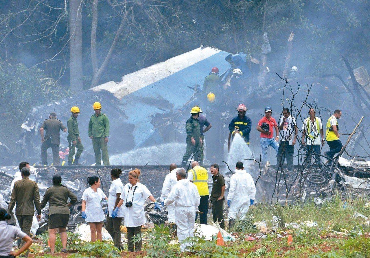 古巴當局今天表示,昨天自哈瓦那起飛不久即墜毀的老舊波音客機的黑盒子已尋獲且「狀況...