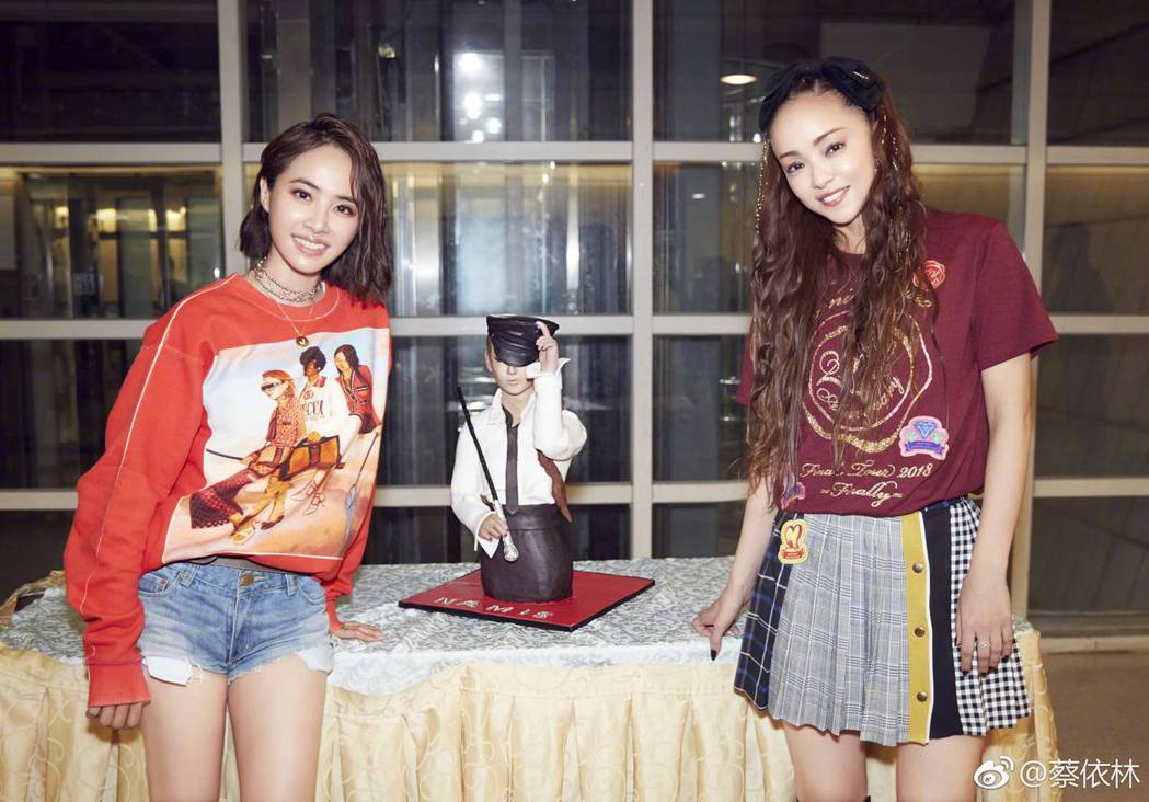 蔡依林特別為安室奈美惠製作蛋糕。圖/摘自蔡依林微博