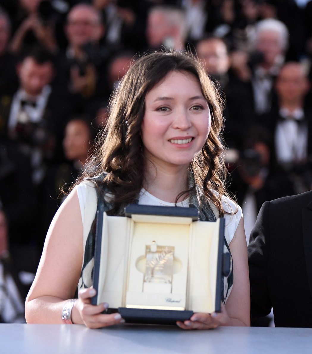 女星莎默耶斯雅莫娃是坎城影展史上第一位來自哈薩克的影后。圖/摘自坎城影展官網