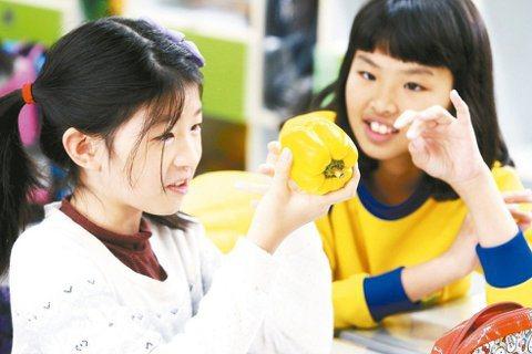 台北市武功國小進行食農教育,由一群社會系、園藝系、農化系的大學生帶領,希望孩子能...