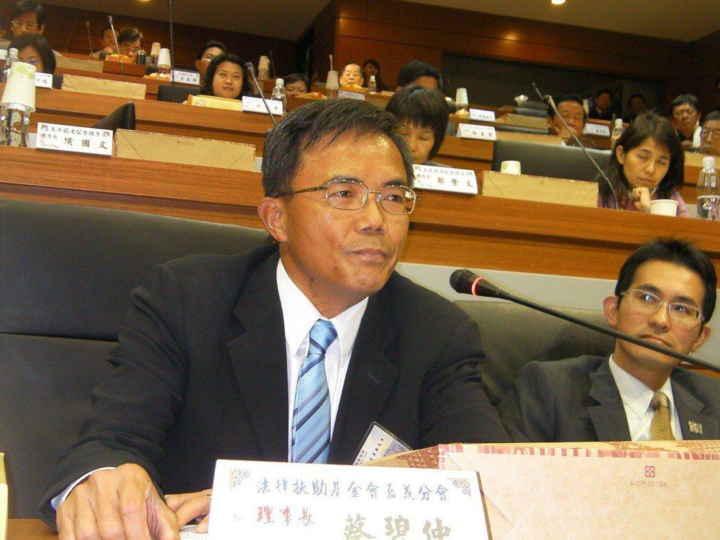 蔡碧仲昨天在立院表示,自己被指為蔡政府「拔管三大將」之一,主導拔管論述是無稽指控...
