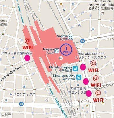 名古屋車站wi-fi分布圖 nagoya-info.jp