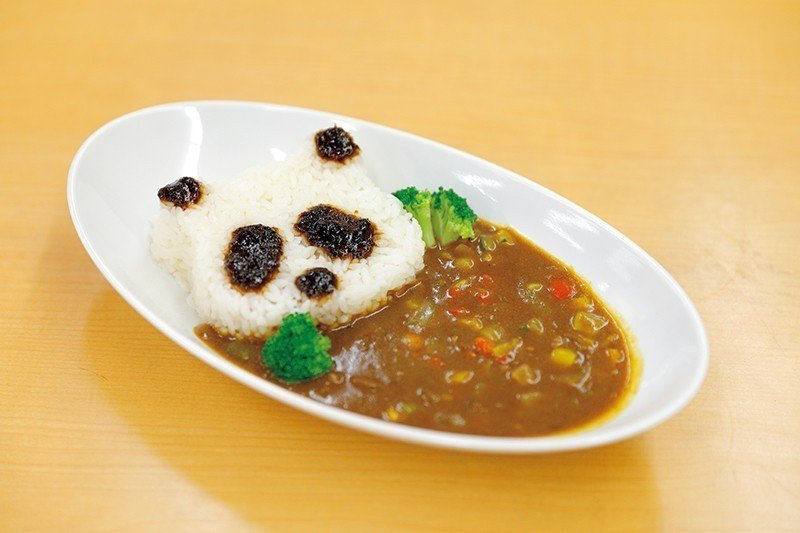 ぱんだかれー(貓熊咖哩)¥ 510/有刻意煮得比較不辣,連小孩都很容易入口,咖哩...