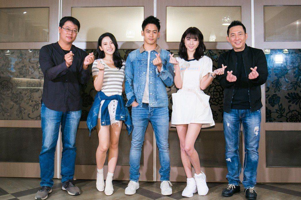 導演賴孟傑(左起)蔡瑞雪、李淳、卲雨薇、屈中恆。圖/威視提供