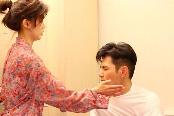 祖雄演劈腿男,遭飾演正宮女友的宗念美呼巴掌。圖/CHOCO TV提供