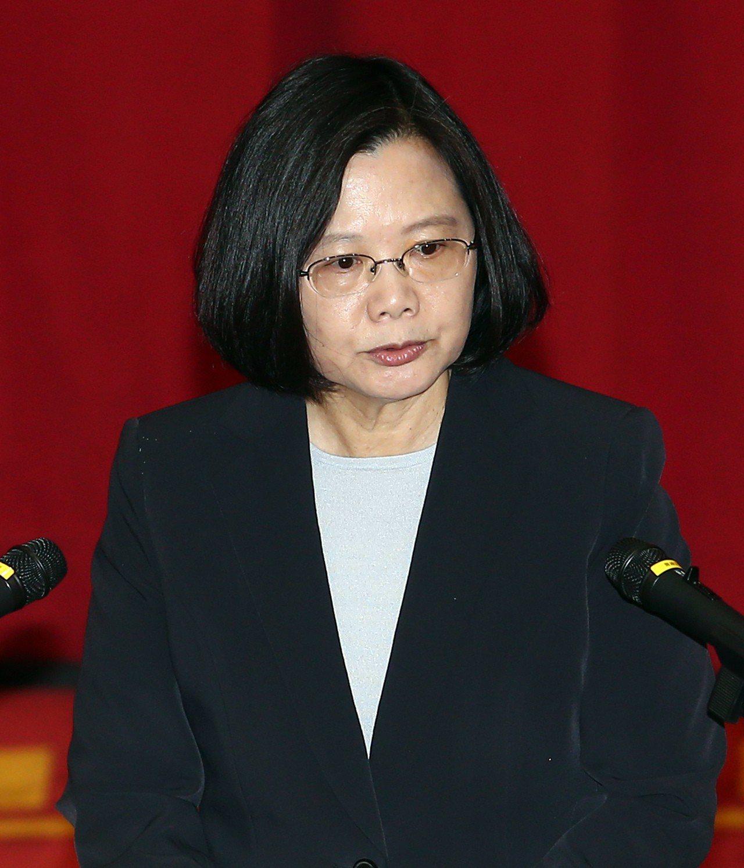 中國迫外商改名 蔡總統批魯莽行為徒增反感。 圖/聯合報系資料照片