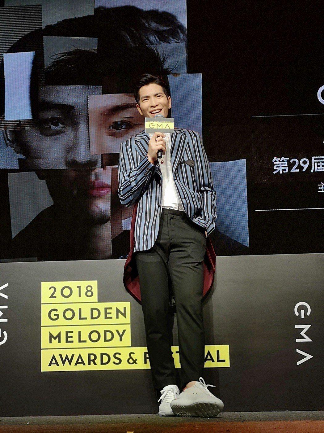第29屆金曲獎頒獎典禮主持人人選,今天宣布由蕭敬騰擔任。記者邱德祥/攝影