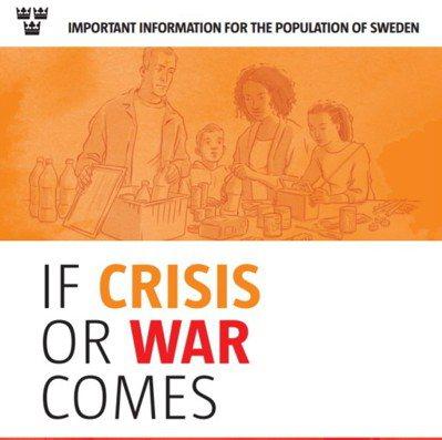 瑞典新版戰爭與危機教戰手冊封面。 取自瑞典急難救助署官網