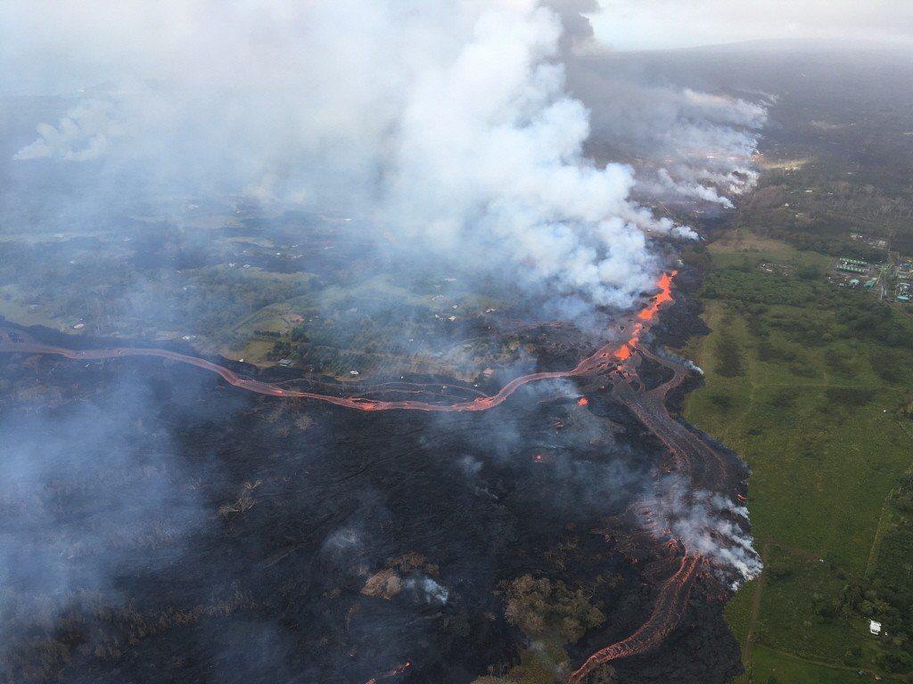 美國大島幾勞亞(Kilauea)火山噴發,國家公園管理局表示,夏威夷火山國家公園...