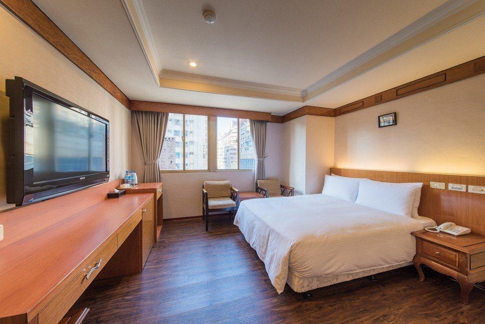 力麗久居棧旅店-高雄館豪華雙人房。圖/力麗觀光提供