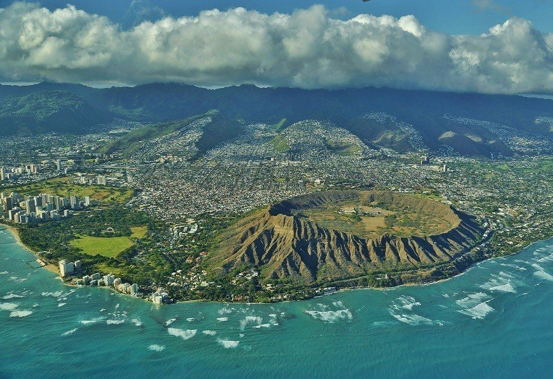 ▲夏威夷鑽石頭山。(圖/攝影者:Eric Tessmer, Flickr CC ...