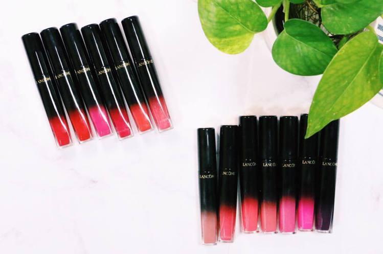 蘭蔻絕對完美水唇釉共推出13色選。圖/記者謝欣倫攝影