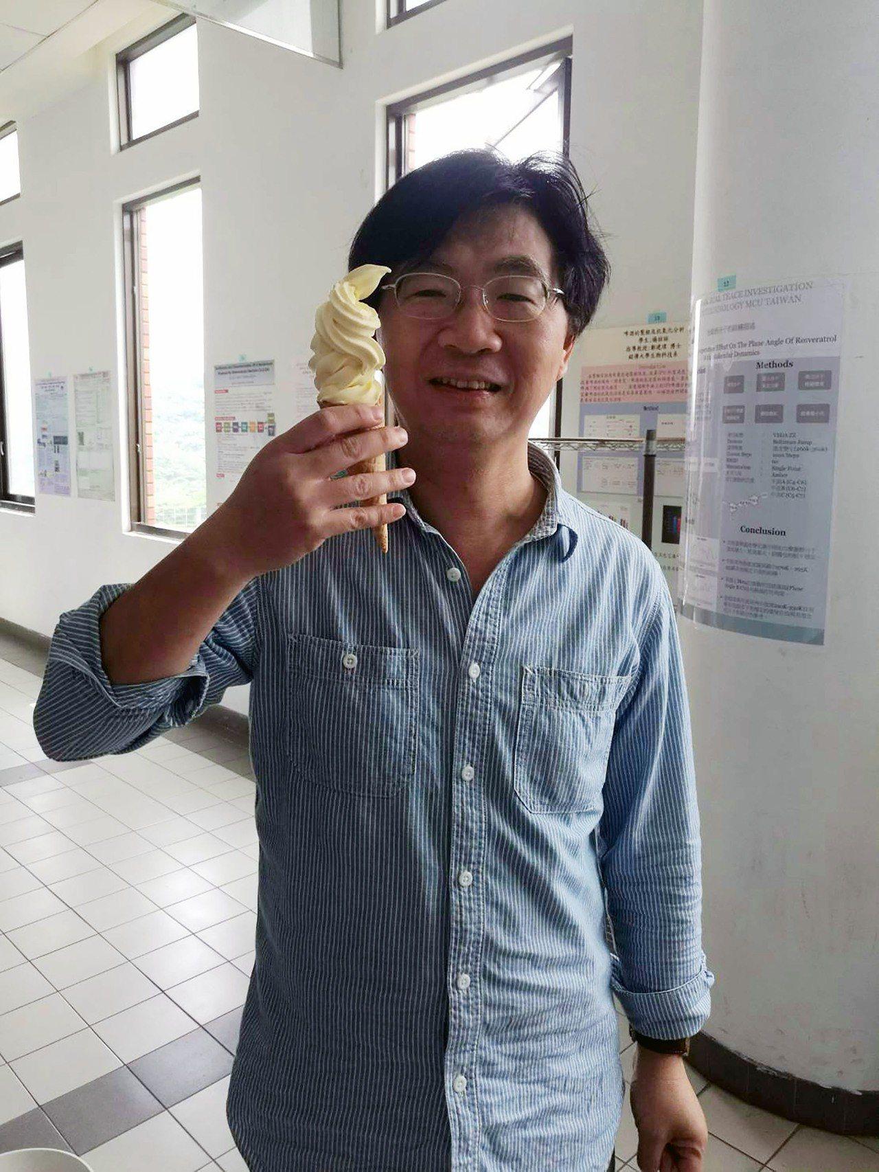 銘傳大學生科系利用在台灣香蕉上發現的新菌種,以及當季水果等製成霜淇淋,不但兼具腸...