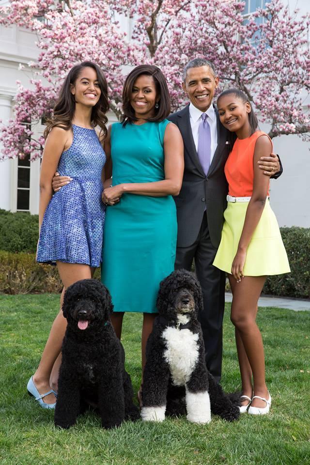 前美國總統歐巴馬一家。圖/摘自臉書