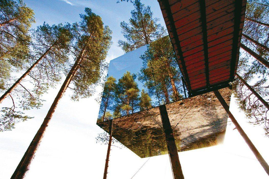 瑞典哈拉斯森林的「樹屋飯店」。 圖/Booking.com提供