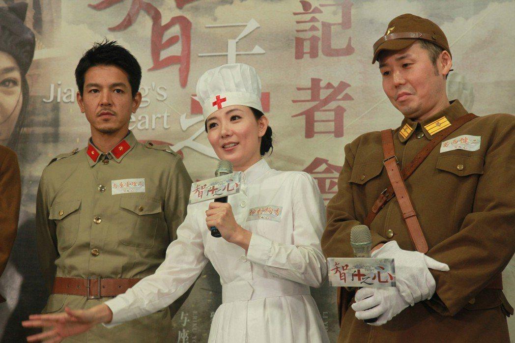 「智子之心」囊括不少台日演員,與座重理久(左起)、廖苡喬、葛西健二參與演出。圖/