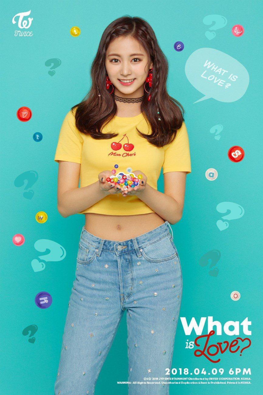 韓國女團「TWICE」成員周子瑜。 圖/擷自TWICE臉書