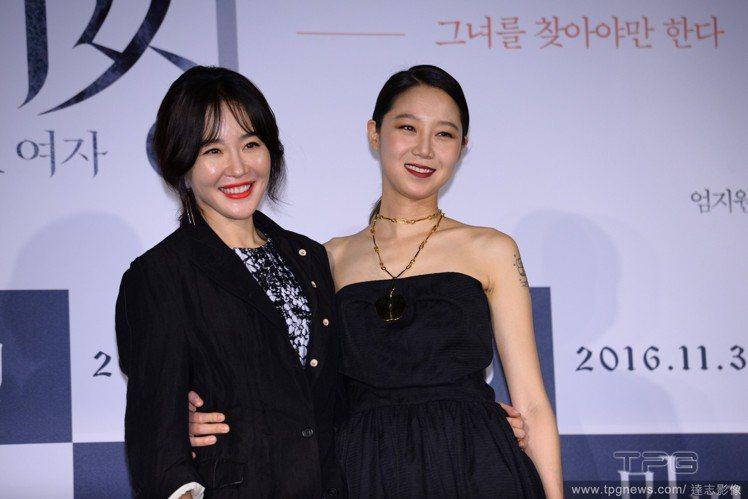 孔曉振(左)與嚴智苑(右)合演懸疑驚悚電影《消失的女人》。圖/達志影像